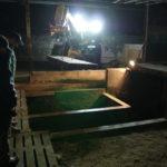 Travail de nuit béton Limousin