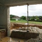 Ouverture mur pierre sciage